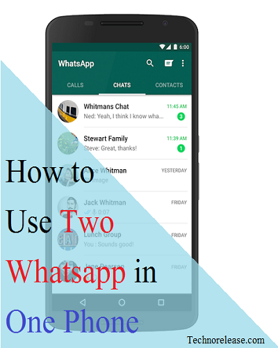 Two whatsapp in one phone