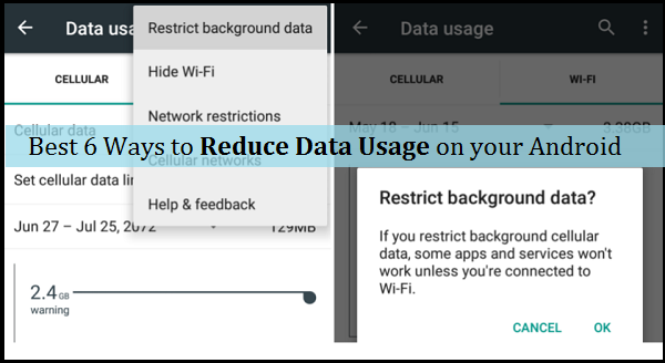 Android Data Usage Restrict Background