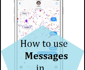 How to use Messages in iOS 10