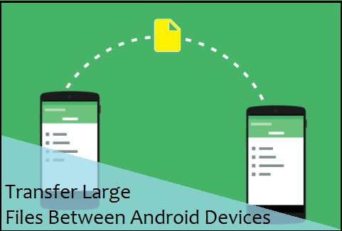 Transfer Large Files Between Android Devices