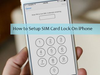 Lock SIM Card on iPhone
