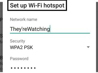 setup wifi hotspot ssid