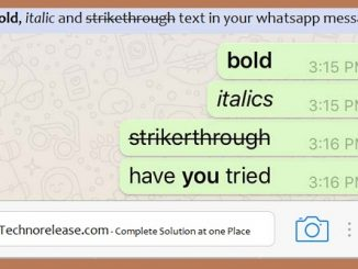 Send bold, italic and strikethrough text in your whatsapp message